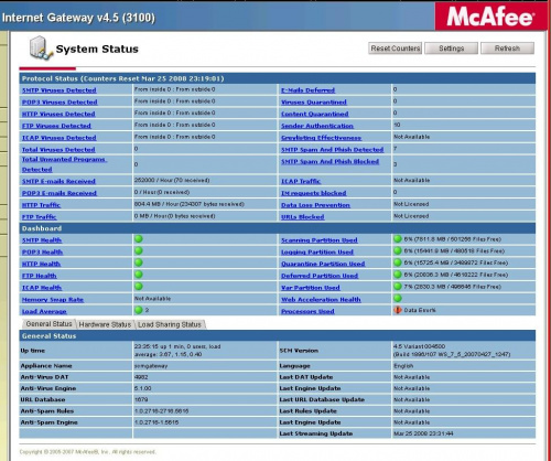 McAfee SCM screen shot