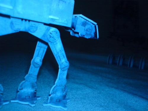 AT-AT nocą atakuje Shield Generator #StarWarsPocketModel