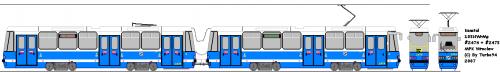 Konstal 105NWrMp #2474 - #2475 - MPK Wrocław. Kartofel z silnikami asynchronicznymi. Egzemplarz, który był przygotowaniem do nowego tramwaju Protramu - 204WrAsa.