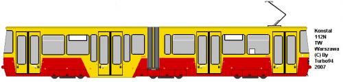 Konstal 112N #3001 - TW Warszawa. Jedyny tego typu egzemplarz na Świecie. Pierwszy częściowo niskopodłogowy tramwaj wyprodukowany w Polsce.
