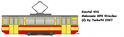 Konstal 4N1 - MPK Wrocław. Egzemplarz posiada numer G-048 i stacjonuje na zajezdni Borek.