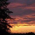 #słońce #niebo #czerwień #złoto