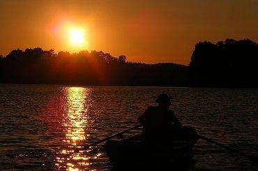 Zachód słońca nad J. Piłakno