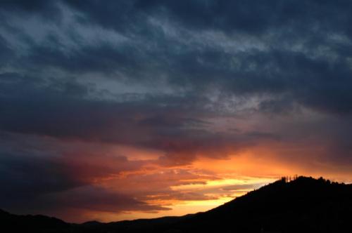 Zachód słońca nad Bryjarką. #góry #Szczawnica