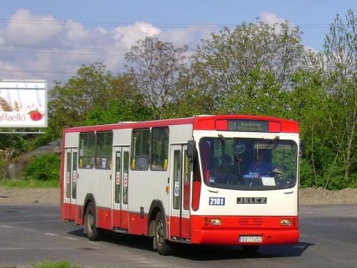 9 V 2008, 9:16 - Jelcz M11 #2101 - Katowice, ul. Leopolda.