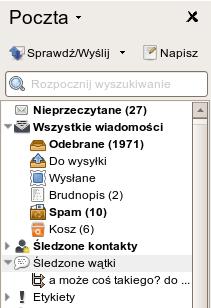 Panel poczty Opery