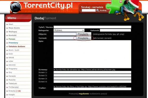 Darmowe torrenty bez logowania