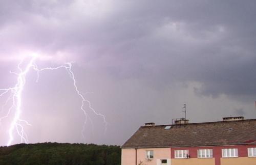 Burza nad Łobzem #burza #Łobez