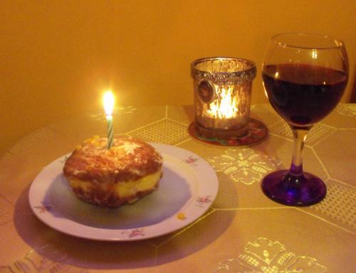 Tak to się kończy jak urodziny wypadają w Tłusty Czwartek ;) #Pączek